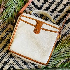 Dooney & Bourke Bags - Dooney & Bourke White Leather Surrey Crossbody AWL